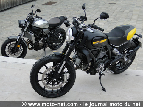 duel scrambler vs xsr700 du rififi en entr e de gamme essai ducati scrambler yamaha xsr700. Black Bedroom Furniture Sets. Home Design Ideas